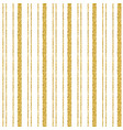 golden glittering striped pattern over white vector image