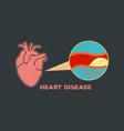 heart disease logo icon symbol vector image vector image