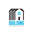 house building - logo concept vector image
