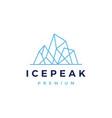 ice peak mount geometric outline logo icon vector image