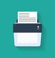 Icon of paper Shredder Flat style vector image vector image