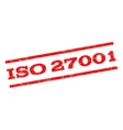 ISO 27001 Watermark Stamp vector image vector image