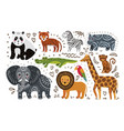 Jungle animals hand draw