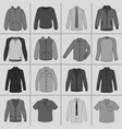 mens clothing set vector image
