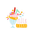 milk shake logo template colorful element for vector image