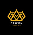 modern golden crown logo template vector image vector image