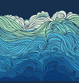 ocean waves border 3 vector image vector image
