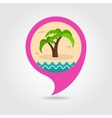 Palm tree pin map icon Summer Vacation vector image vector image