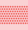 pattern from abstract red flower vector image vector image