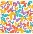 pattern with colorful butterflies vector image vector image