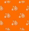 penny-farthing pattern seamless vector image vector image