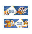 pirate adventure waiting banner corsairs vector image vector image