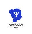 psychology psychological help female head vector image