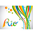 Rio brazil color design with shapes for sport game vector image vector image
