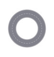 road ring isolated street map segment vector image
