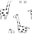 seamless childish pattern with cute giraffes vector image
