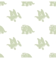 seamless pattern of cartoon Dinosaur vector image vector image