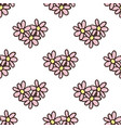 seamless pattern with doodle flowers in shape of vector image