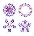 set decorative circular composition with folk vector image vector image