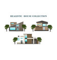 set of houses residential house realistic house vector image vector image