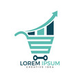 shop report or stats and shopping logo design vector image vector image