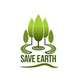 sign save earth vector image