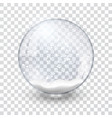 snow globe ball realistic new year christmas vector image vector image