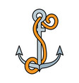 summer marine anchor isolated icon vector image vector image