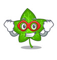 super hero green ivy leaf on character cartoon vector image