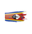swaziland flag on a white vector image