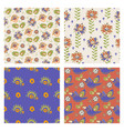 tatarlar set seamless pattern oriental decorative vector image
