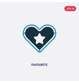 two color favourite icon from web navigation vector image