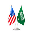 usa and saudi arabia flags vector image vector image