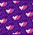 valentines hand drawn gradient pattern-03 vector image vector image