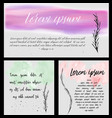watercolor and ink banners vector image vector image