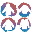 white coat silhouettes on colorful splashes vector image