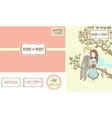 Set of wedding invitation cards vector image