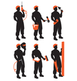 set workers vector image