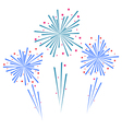 Sketch abstract colorful exploding firework vector image