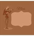 Restaurant or cafe menu Violinist playing vector image