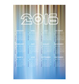 2016 simple business wall calendar abstract blue vector image