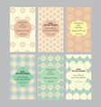 a collection of six designs cards vector image vector image