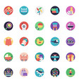a icons set of baby and kids vector image