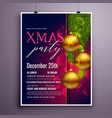 awesome christmas party flyer poster design vector image vector image