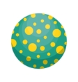 ball toy kid isolated icon vector image