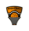 basketball major sporty league vintage label vector image vector image