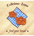 Bread On A Napkin 23 vector image vector image