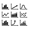 Business Infographic Graph Icons Set vector image vector image