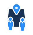 business location icon vector image vector image