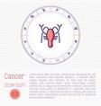 cancer in zodiac wheel horoscope chart vector image
